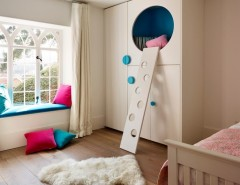 Hideaway Storage for a Contemporary Kids with a Cubby Hole and Teddy Edwards Bespoke Children's Room Furnitures by Teddy Edwards