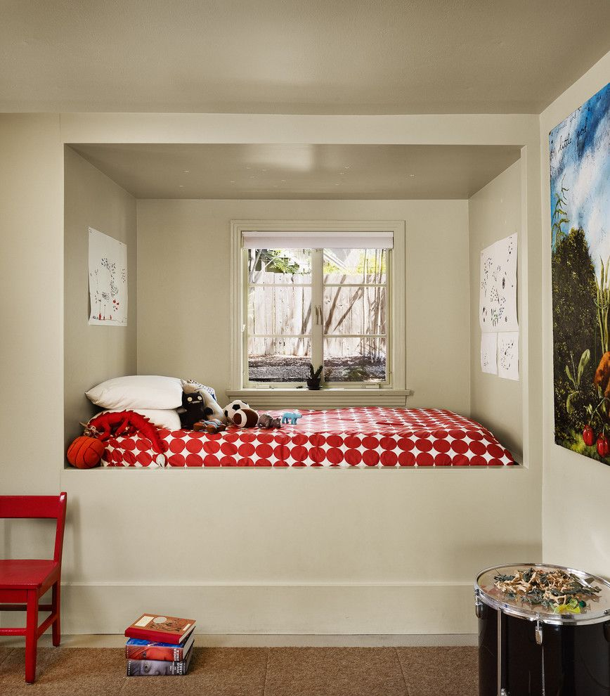 Hideaway Storage for a Contemporary Kids with a Light Beige Window Trim and 34th Street House by Clayton&little Architects