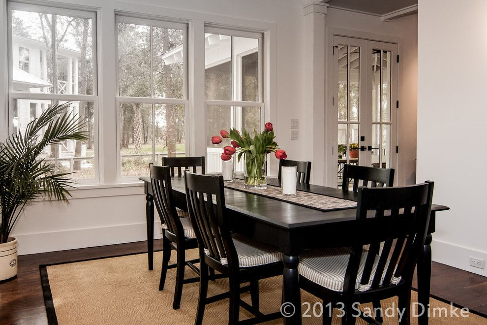 High Tide Charleston Sc for a Contemporary Dining Room with a Custom and Mount Grace by Watermark Coastal Homes, Llc