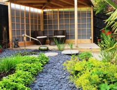 Hilliard Lawn and Garden for a Asian Patio with a Pond and Zen Inspired Garden, Bradley Stoke by Katherine Roper Landscape & Garden Design