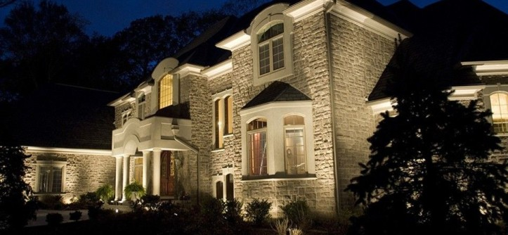 Hilton Head Lighthouse for a Contemporary Exterior with a Landscape Lights and Landscape Lighting - National Project by Lighthouse Outdoor Lighting - Savannah/Hilton Head