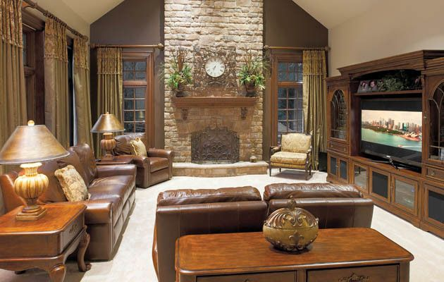 Hite Electric for a Traditional Family Room with a Swarovski Crystals and Fit for a King and Queen by Housetrends Magazine