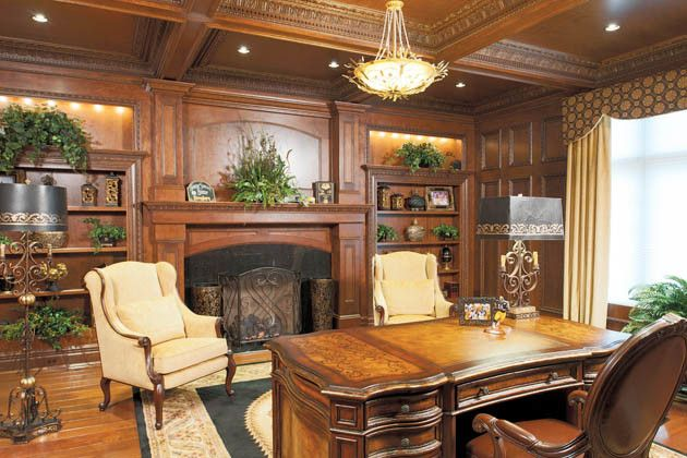 Hite Electric for a Traditional Home Office with a Master Suite and Fit for a King and Queen by Housetrends Magazine