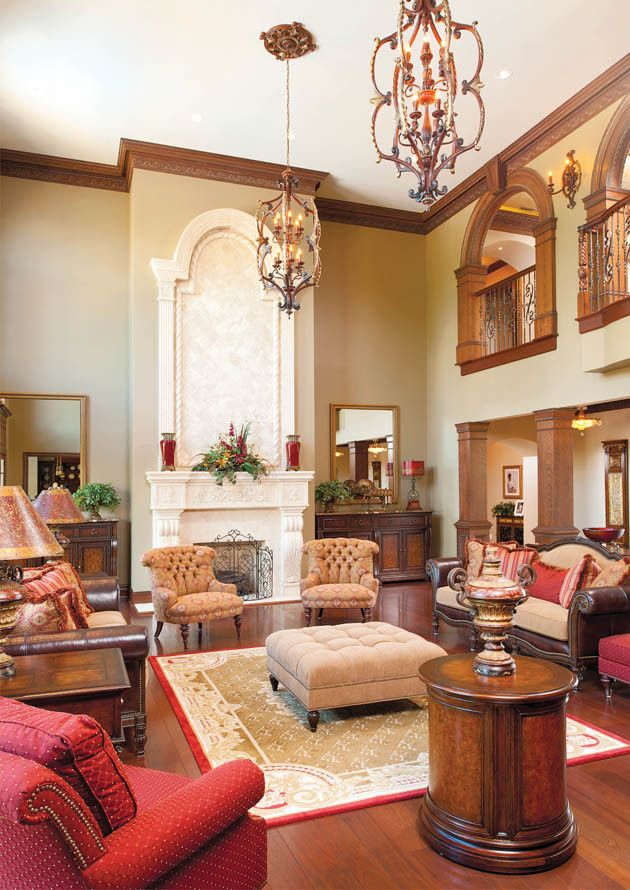 Hite Electric for a Traditional Living Room with a Chandelier and Fit for a King and Queen by Housetrends Magazine