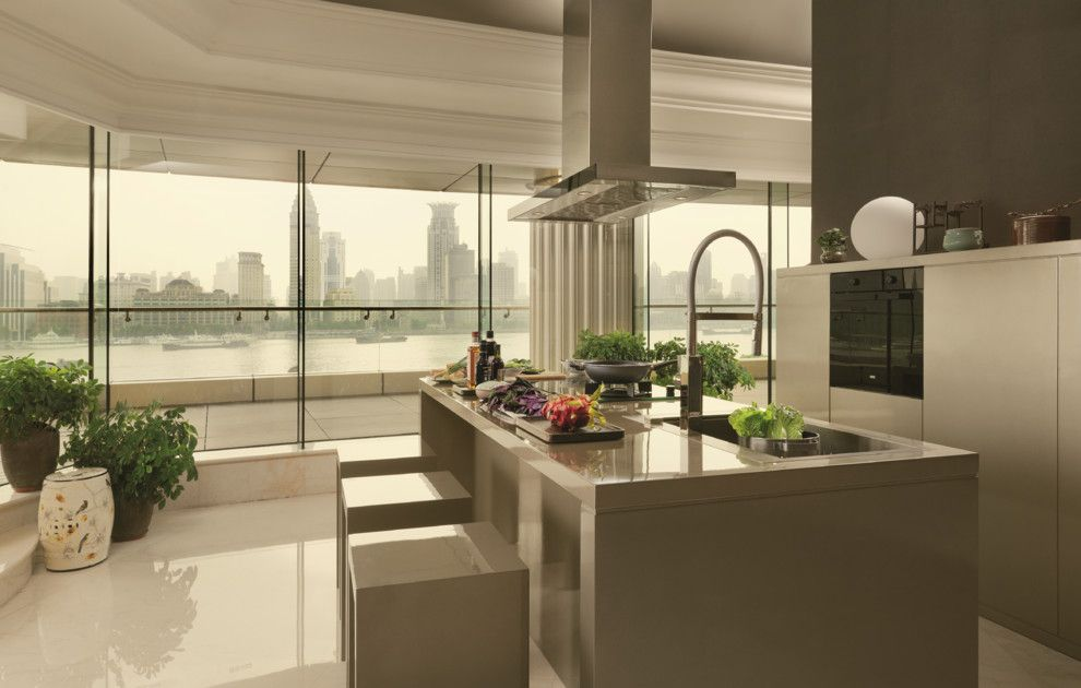 Hob Knob for a Modern Kitchen with a Crystal Knobs and Crystal  Let It Shine by Franke Singapore Pte Ltd