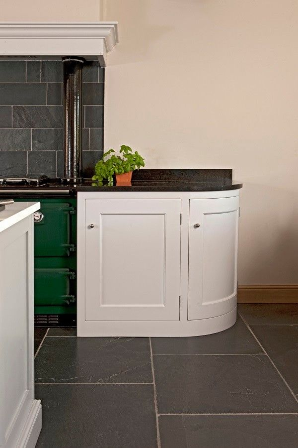 Hob Knob for a Traditional Kitchen with a Small Kitchen Appliances and Pensham by Symes Interiors