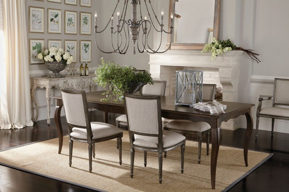 Hobby Lobby Amarillo for a Traditional Dining Room with a Dark Wood Dining Table and Ethan Allen by Ethan Allen