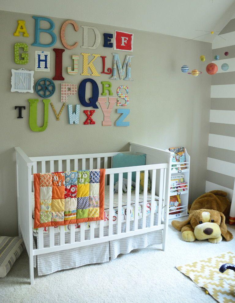 Hobby Lobby Amarillo for a Transitional Nursery with a Ideas for Baby Boy Nursery and Alphabet Wall Art by Nessadee