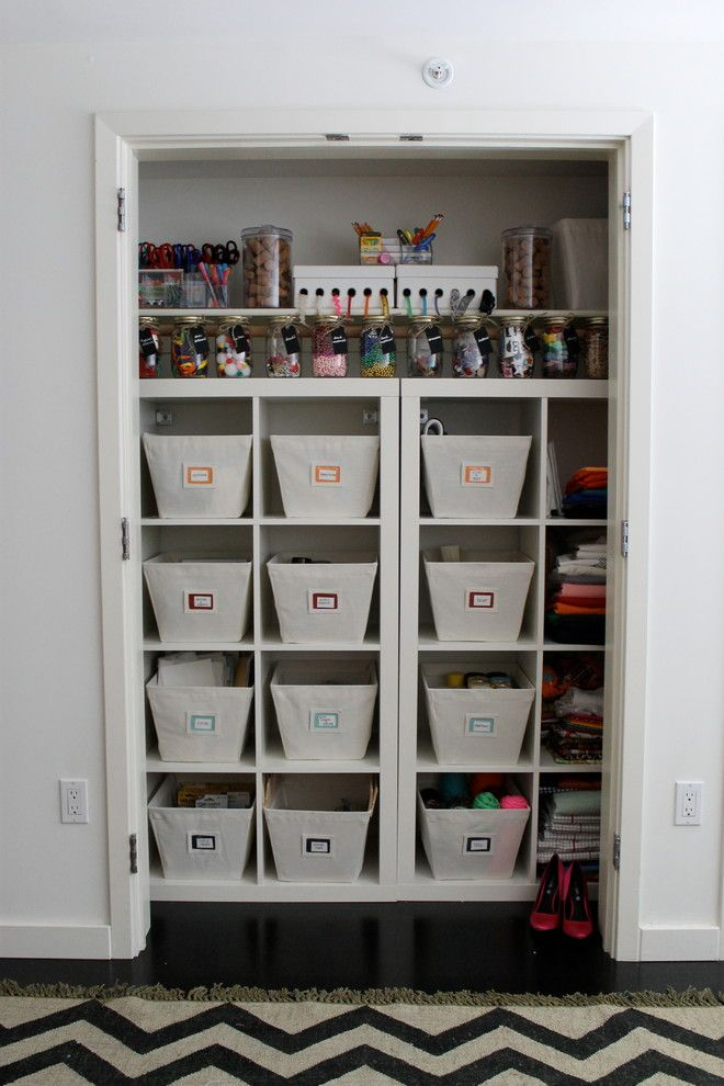 Hobby Lobby Baskets for a Traditional Closet with a Traditional and Craft Room Organization by Neat Method San Diego