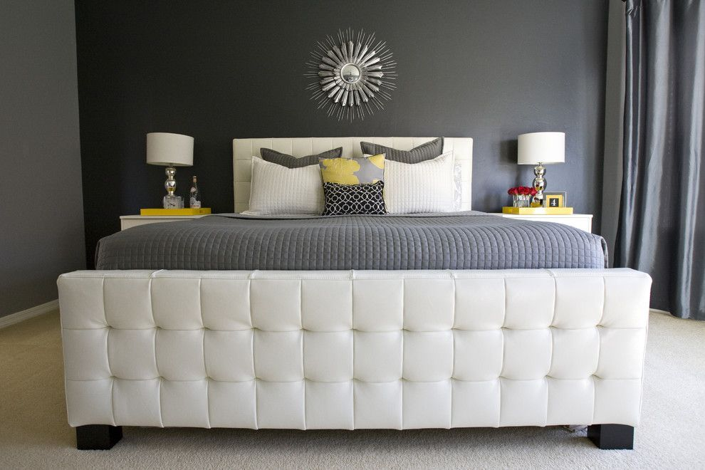 Hobby Lobby Orlando for a Transitional Bedroom with a White Upholstered Headboard and Michelle's Master Bedroom. by Michelle Hinckley