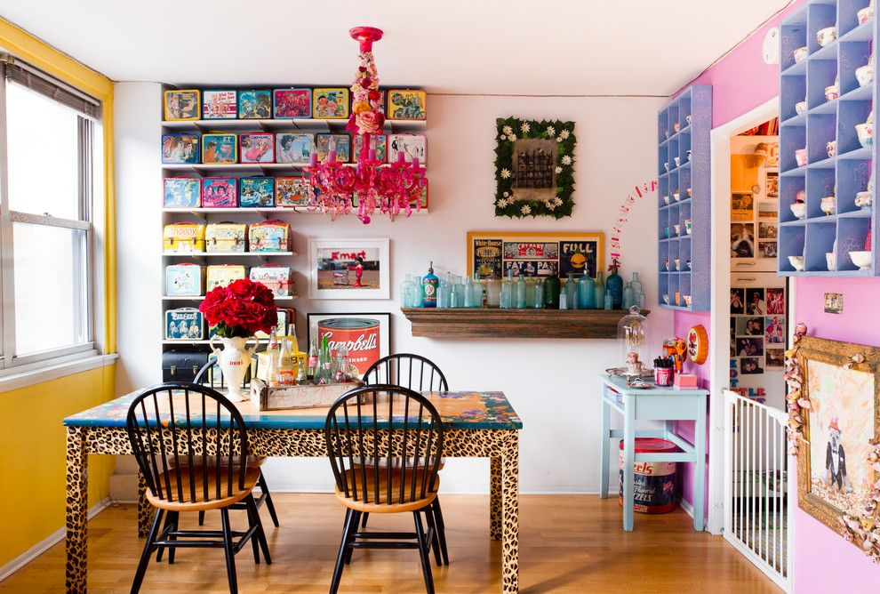 Holy Lamb Organics for a Eclectic Dining Room with a Pink Wall and My Houzz: Jeanie Engelbach by Rikki Snyder