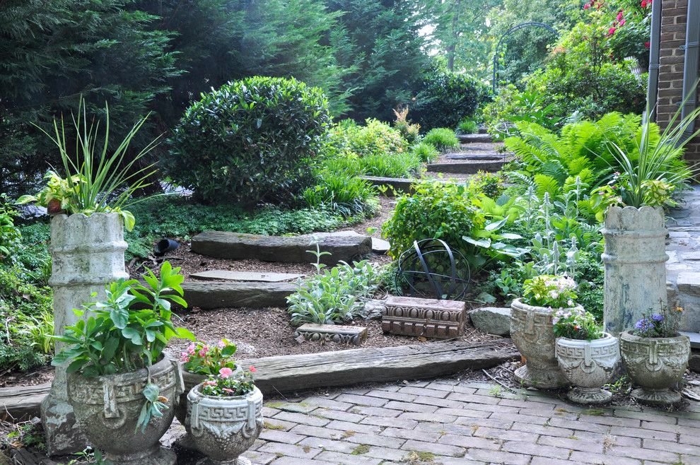 Holy Lamb Organics for a Traditional Landscape with a Garden Steps and My Houzz:  Eclectic Finds in Maryland by Cm Glover