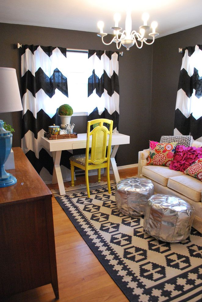 Home Decor Liquidators for a Eclectic Home Office with a Window Treatments and Eclectic Home Office by Joi