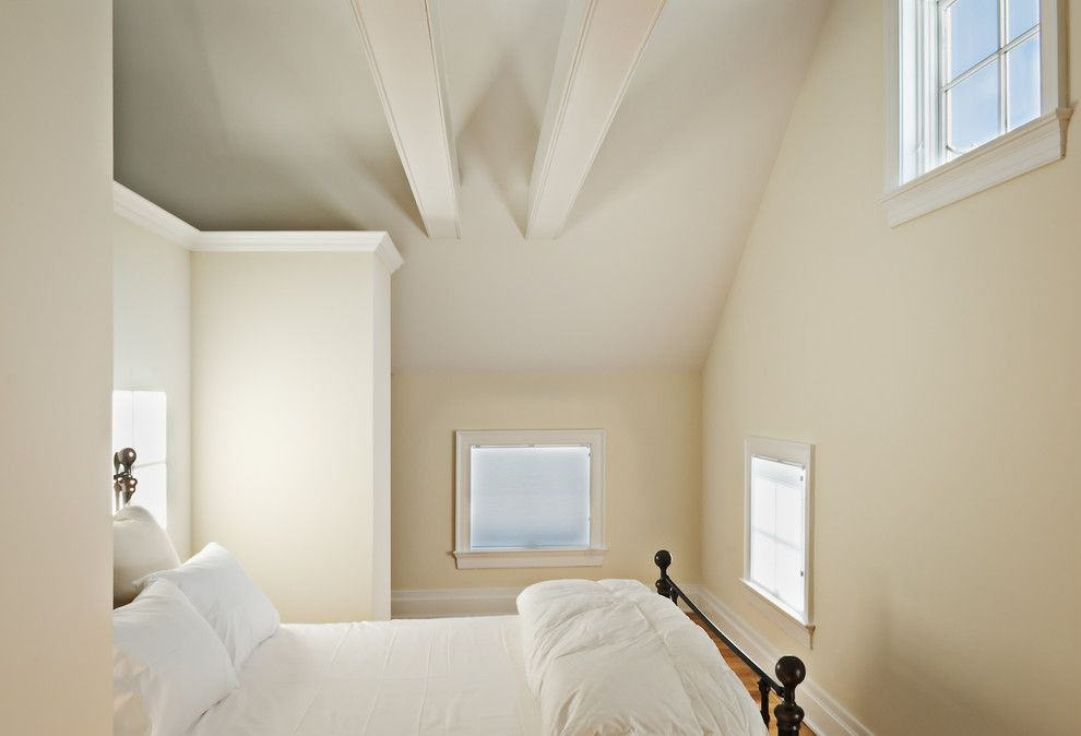 Home Decor Liquidators for a Farmhouse Bedroom with a Loft Bedroom and White Guest Bedroom by Crisp Architects