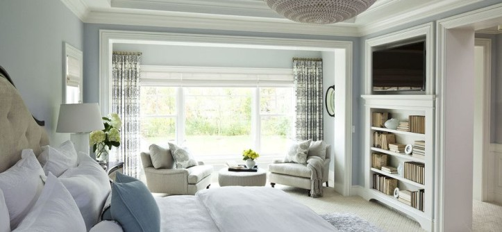 Home Decor Liquidators for a Traditional Bedroom with a Ceiling and Parkwood Road Residence Master Bedroom by Martha O'Hara Interiors