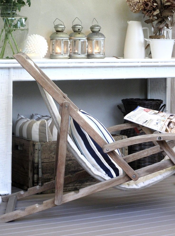 Home Decor Liquidators for a Traditional Porch with a Table Decoration and a Beach Cottage by a Beach Cottage
