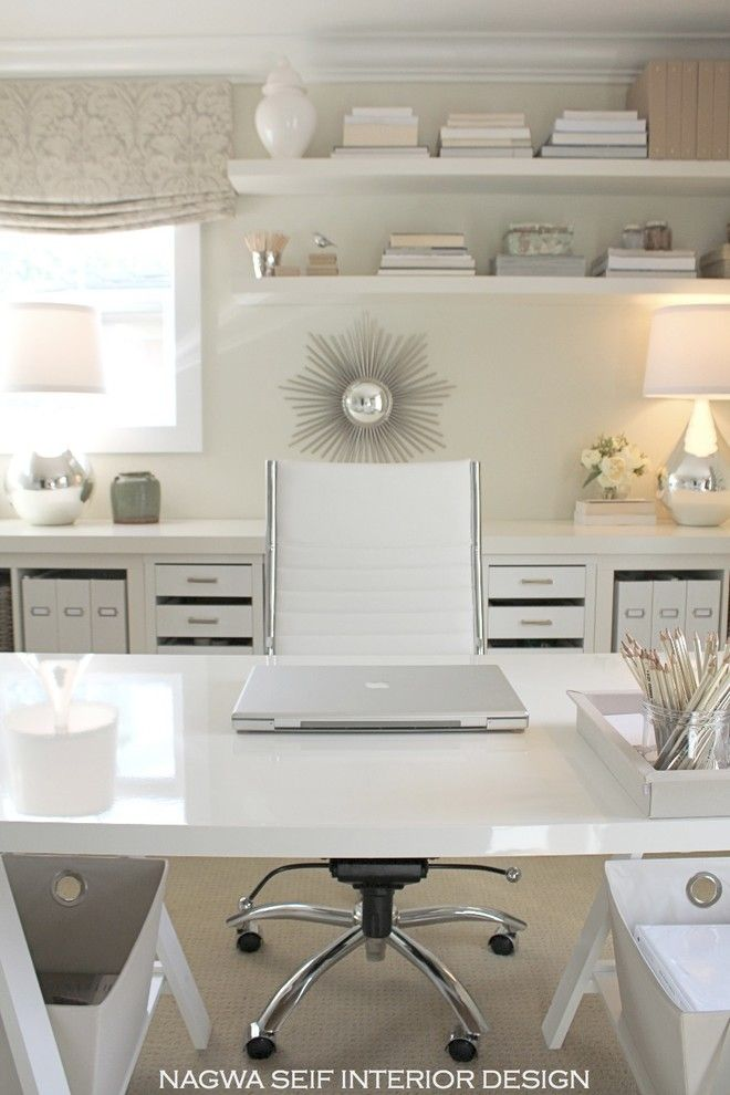 Home Depot Ashburn for a Contemporary Home Office with a Polished Nickel and My New Office by Nagwa Seif Interior Design