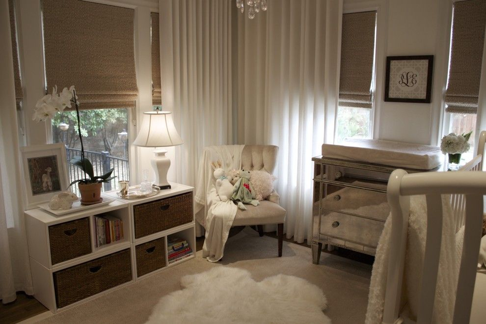Home Depot Ashburn for a Traditional Nursery with a Sheepskin Rug and Pearson's Room by Amy Lambert Lee