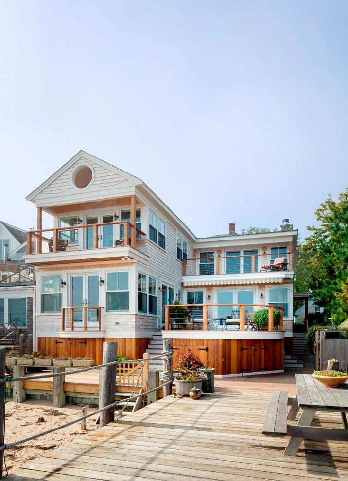 Home Depot Deck Designer for a Beach Style Exterior with a Patio and Provincetown, Ma by Cape Associates, Inc.
