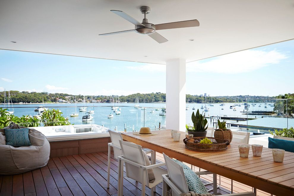 Home Depot Deck Designer for a Contemporary Deck with a Wood Deck and Waters Edge by Dean Herald Rolling Stone Landscapes