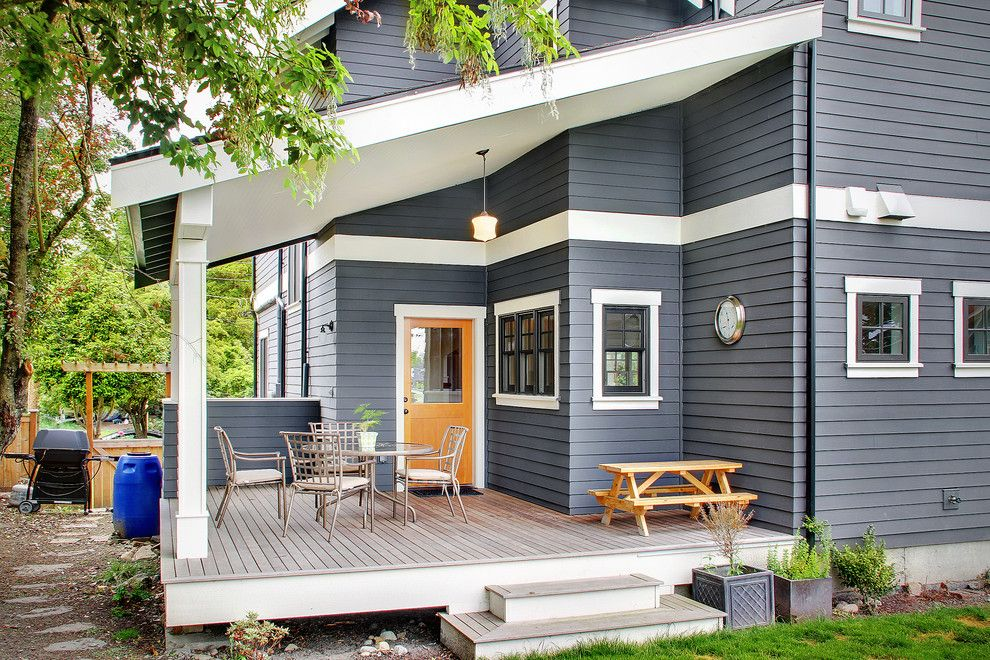 Home Depot Deck Designer for a Traditional Deck with a Back Door and Greenlake Craftsman by Rw Anderson Homes