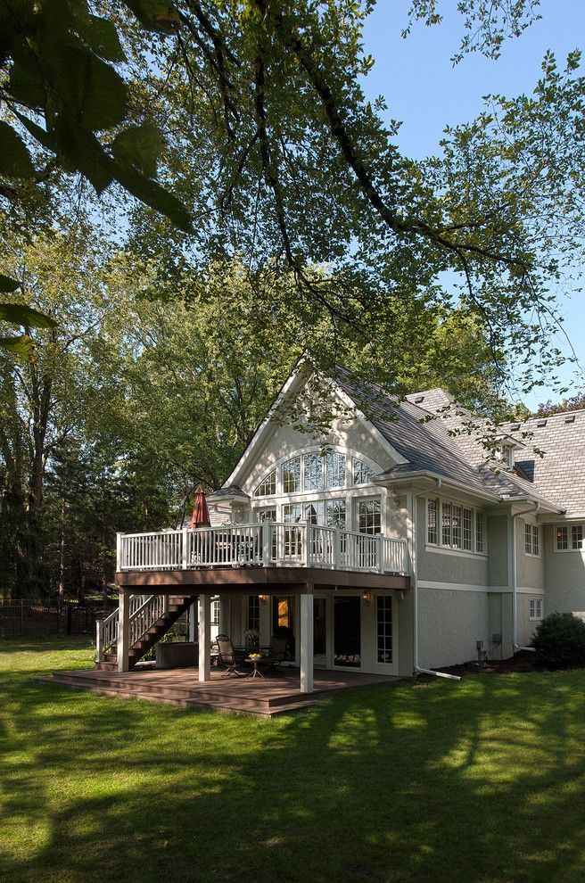 Home Depot Deck Designer for a Traditional Exterior with a Gable Roof and Oak Knoll Transformation by Tea2 Architects