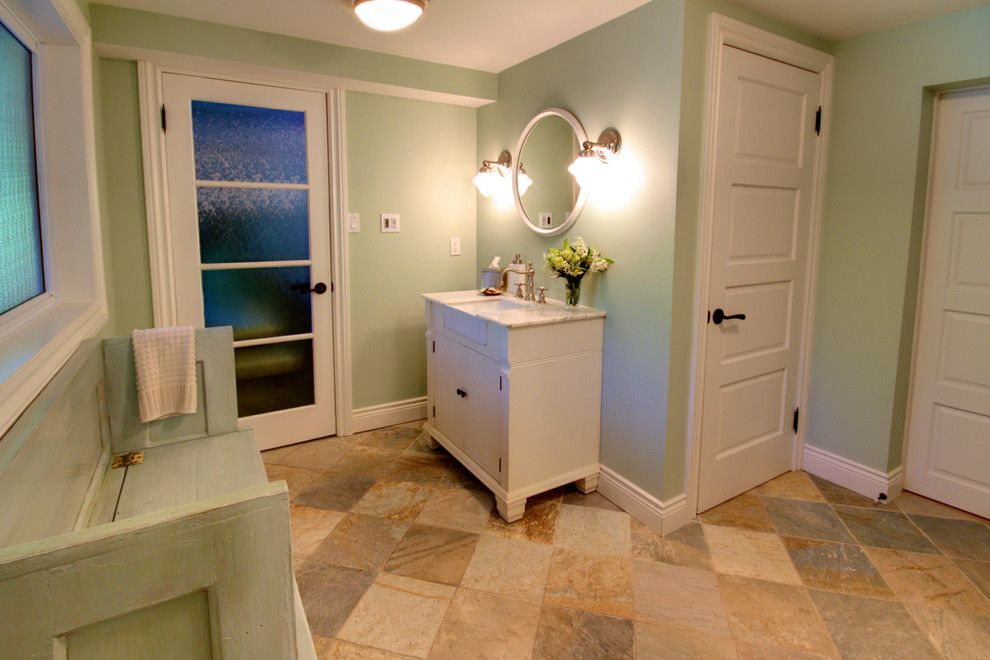Home Depot Fairfax for a Contemporary Bathroom with a Vanity and Greenoaks by Avalon Interiors
