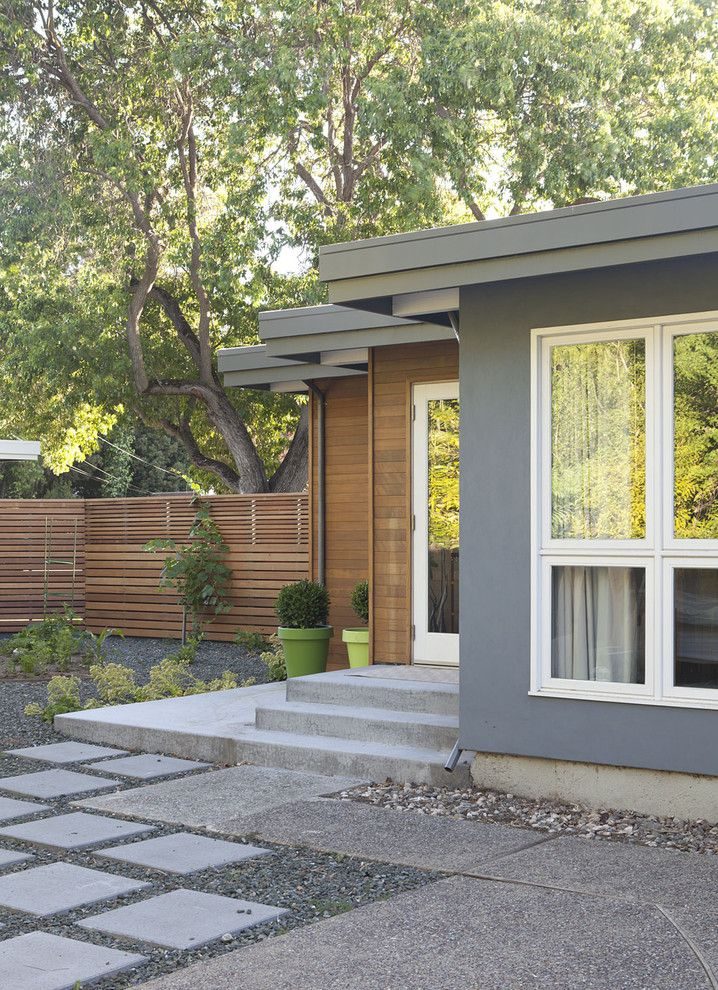 Home Depot Fairfax for a Midcentury Exterior with a Wood Fencing and Exterior, Master Bathroom Added in Zig Zag Because of Setbacks by Klopf Architecture