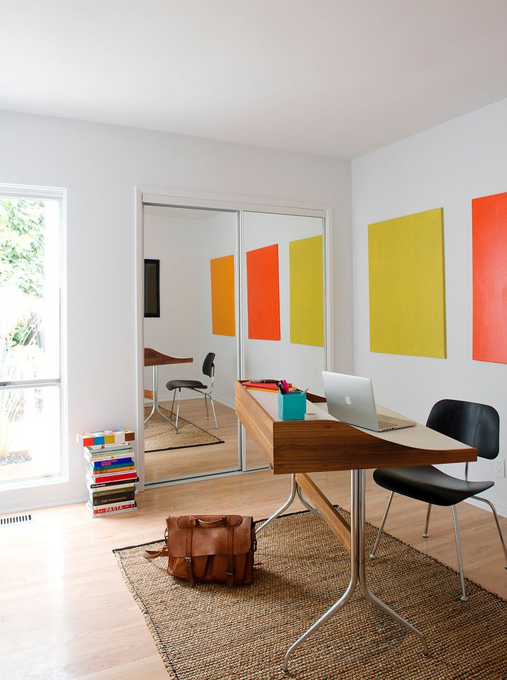 Home Depot Fairfax for a Midcentury Home Office with a Eames and Indoor Outdoor, Midcentury, Los Angeles by Blake Civiello Architecture