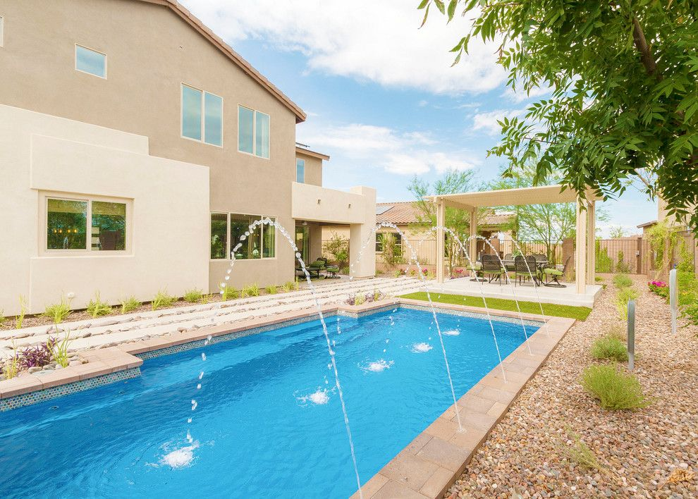 Home Depot Gilbert Az for a Contemporary Pool with a Desert Landscape and Inspire @ Marbella Vineyards | Gilbert, Az | 4594   Excite Plan by Shea Homes   Arizona