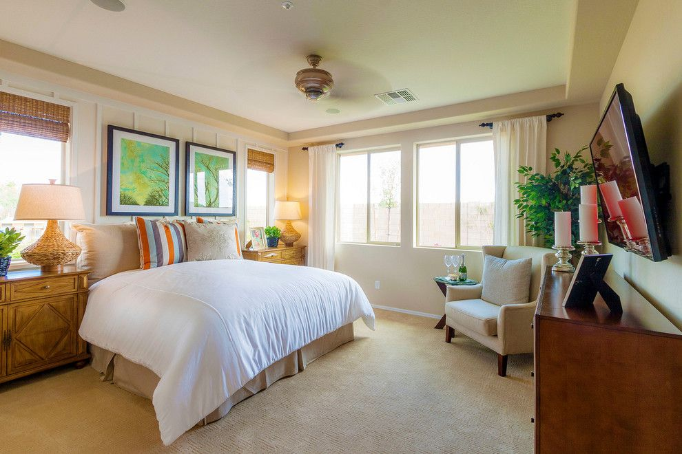 Home Depot Gilbert Az for a Modern Bedroom with a Wall Feature and Intrigue @ Marbella Vineyards | Gilbert, Az | 4092   Captivate Plan by Shea Homes   Arizona