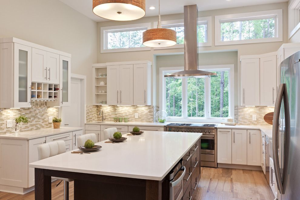 Home Depot Howell Mi for a Transitional Kitchen with a Contemporary Kitchen and Karvelas Kitchen by Turan Designs, Inc.