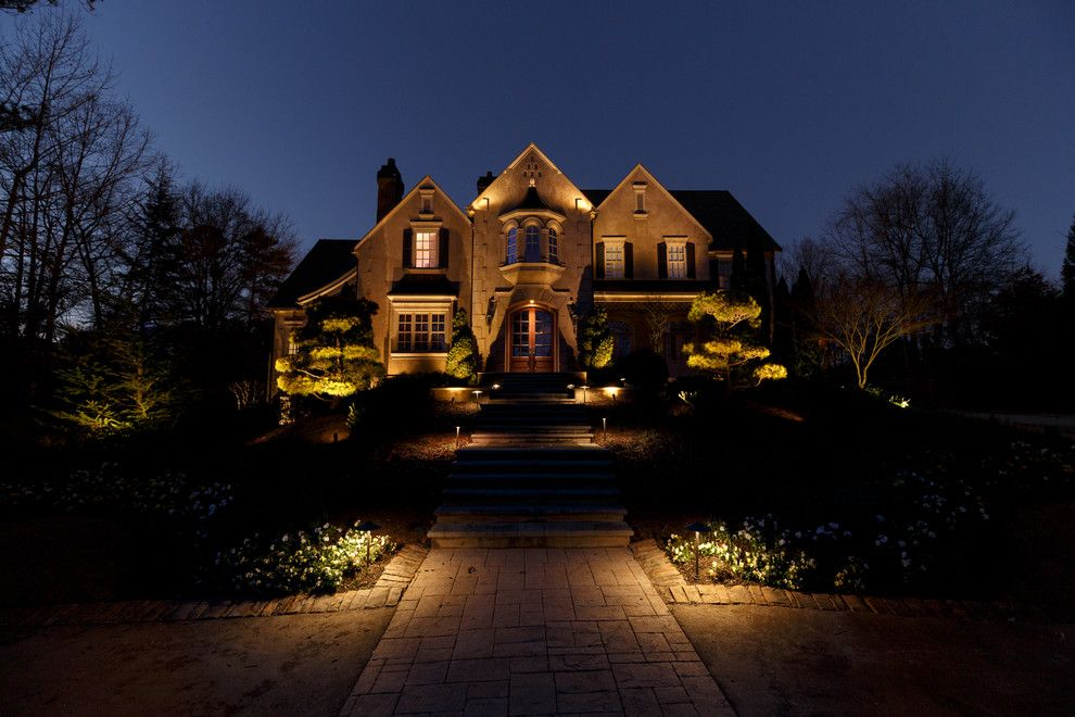 Home Depot Marietta Ga for a Traditional Exterior with a Path Lighting and Marietta, Ga House and Backyard Lighting Project #3 by Nightvision Outdoor Lighting