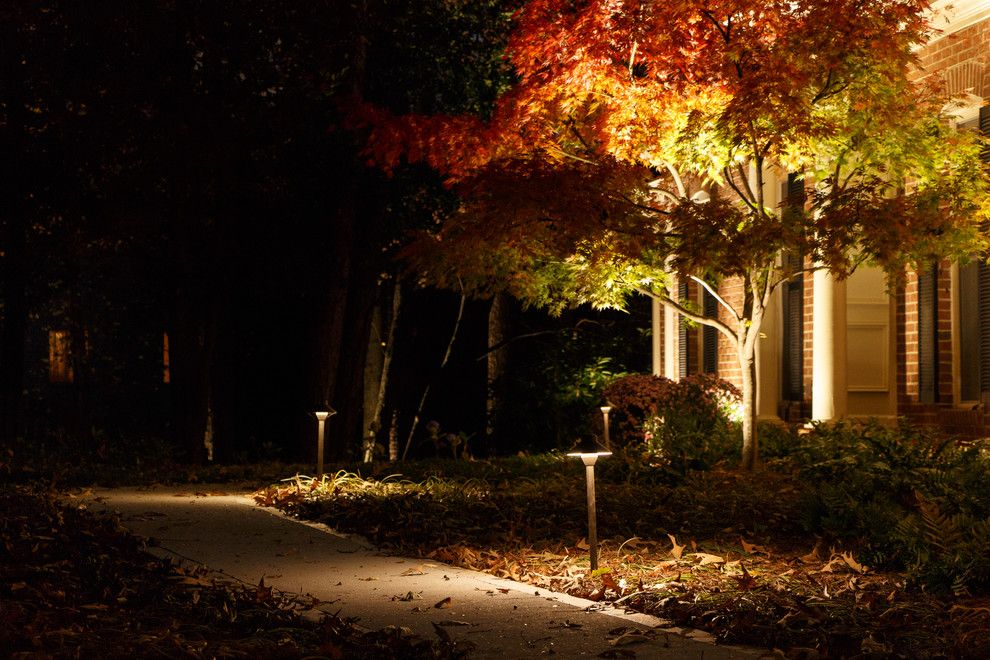 Home Depot Marietta Ga for a Traditional Landscape with a Exterior Lighting and Marietta, Ga House Lighting Project by Nightvision Outdoor Lighting