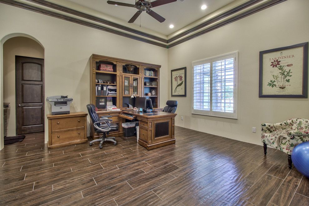 Home Depot Queen Creek for a Farmhouse Home Office with a Farmhouse and French Country Estate in the Pecans   Queen Creek, Az by I Plan, Llc   Architectural Design
