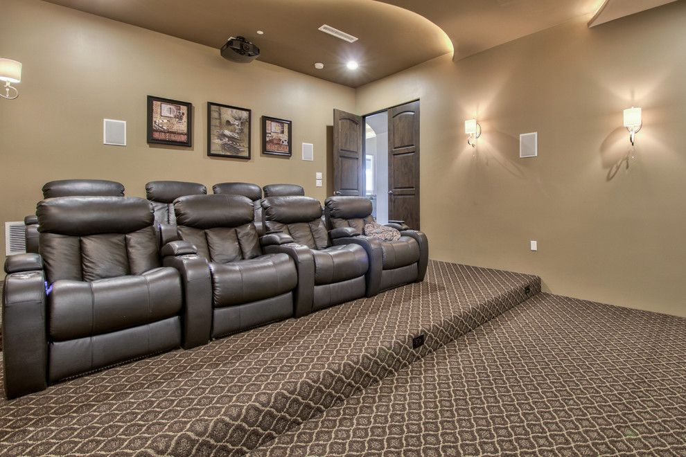 Home Depot Queen Creek for a Farmhouse Home Theater with a French and French Country Estate in the Pecans   Queen Creek, Az by I Plan, Llc   Architectural Design