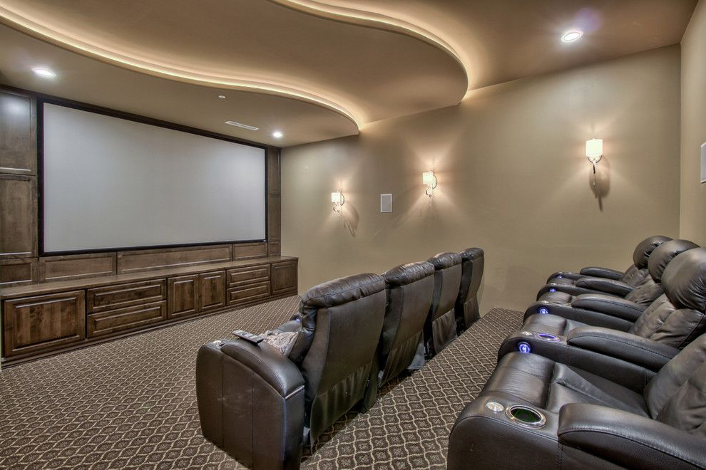 Home Depot Queen Creek for a Farmhouse Home Theater with a the Pecans and French Country Estate in the Pecans   Queen Creek, Az by I Plan, Llc   Architectural Design