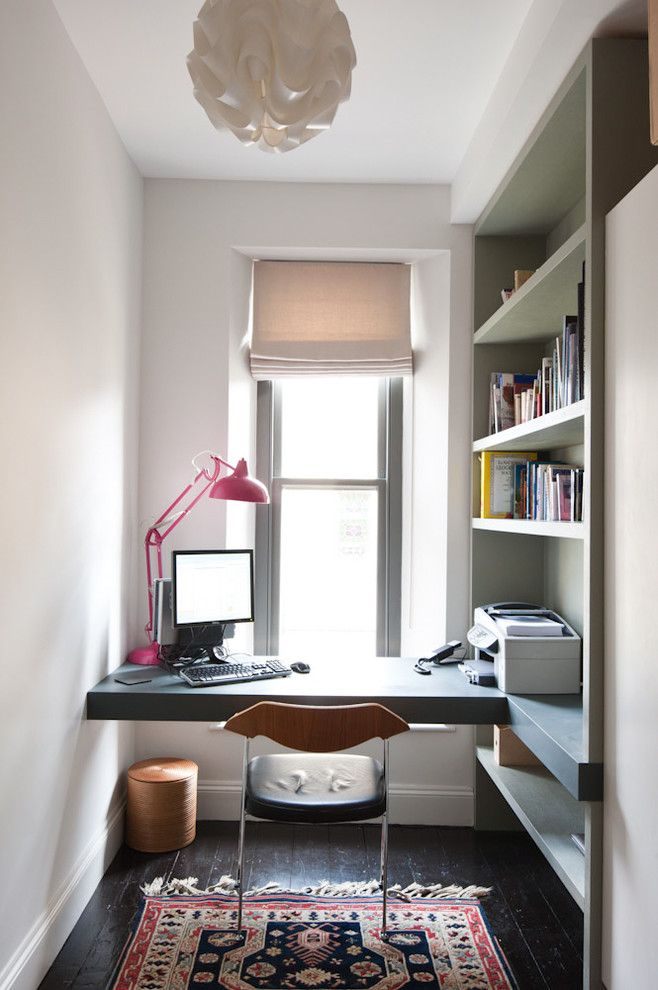 Home Goods Madison Wi for a Contemporary Home Office with a Small Persian Rug and 19hr by Moon Design + Build