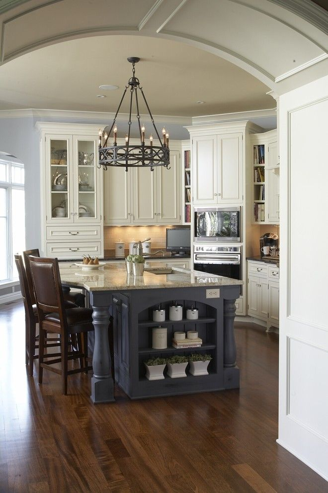 Home Goods Madison Wi for a Traditional Kitchen with a Painted Wood Island and Kitchen by Hendel Homes