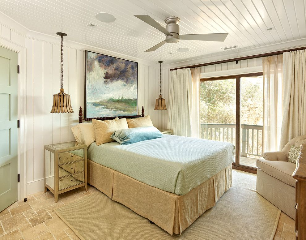 Home Goods Rockville for a Beach Style Bedroom with a Ceiling Mounted Bedside Lights and Diodia Court Spring 2014 by R.m. Buck Builders