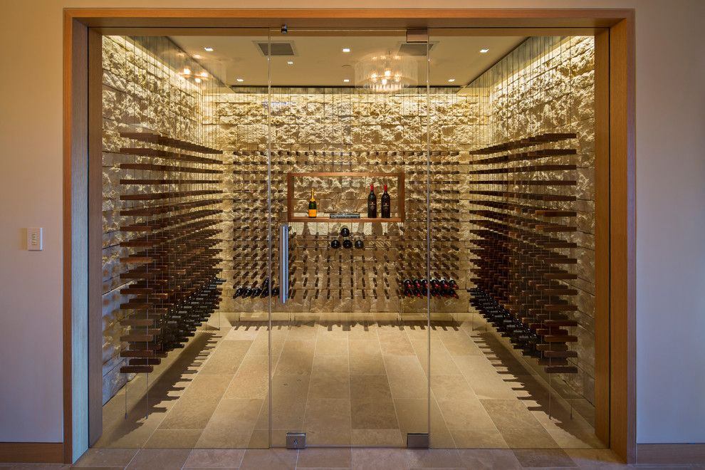 Home Goods Rockville for a Contemporary Wine Cellar with a Custom and Saratoga Hilltop Contemporary by Conrado   Home Builders