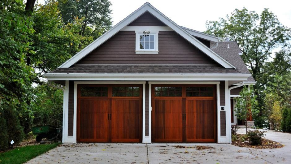 Home Goods Rockville for a Craftsman Garage with a Carriage Doors and Carriage House Overlay by Empire Overhead Doors, Llc