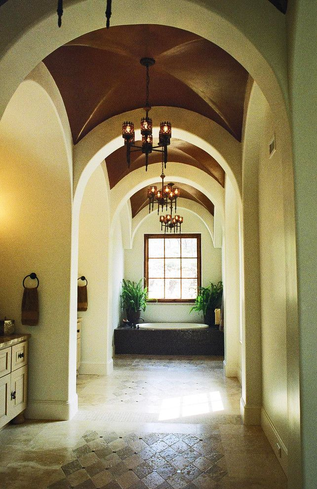 Home Improvement Cast for a Mediterranean Bathroom with a Home Addition and Mediterranean, California Mission, Spanish Colonial by John Dancey Custom Designing/remodeling/building