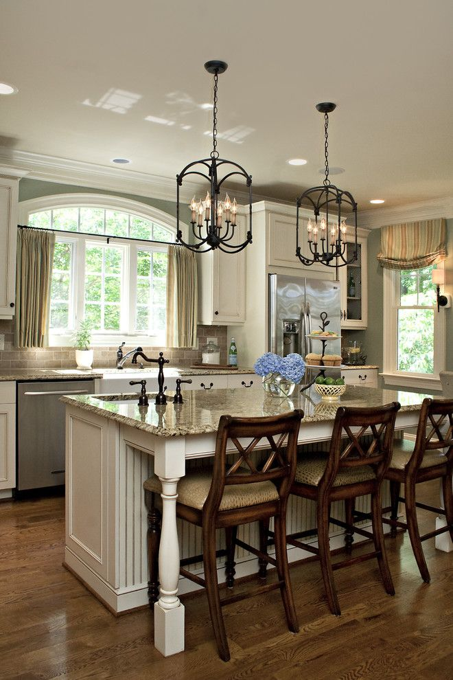 Homedepotess for a Traditional Kitchen with a Green Walls and Kitchen by Driggs Designs