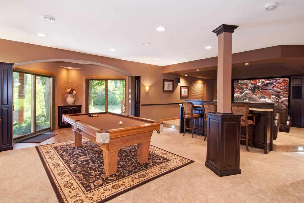 Homesmart Realty for a Traditional Basement with a Built in Cabinetry and Pehle Lower Level by College City Design Build