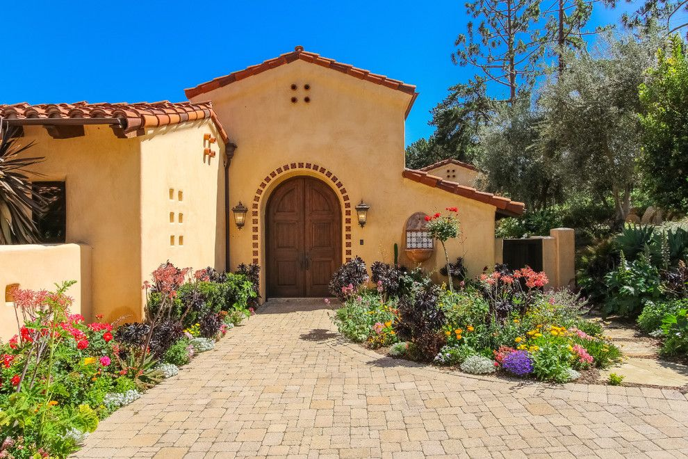 Homewise Santa Fe for a Mediterranean Entry with a Fenced and Mediterranean Entry by Lindasansone.com