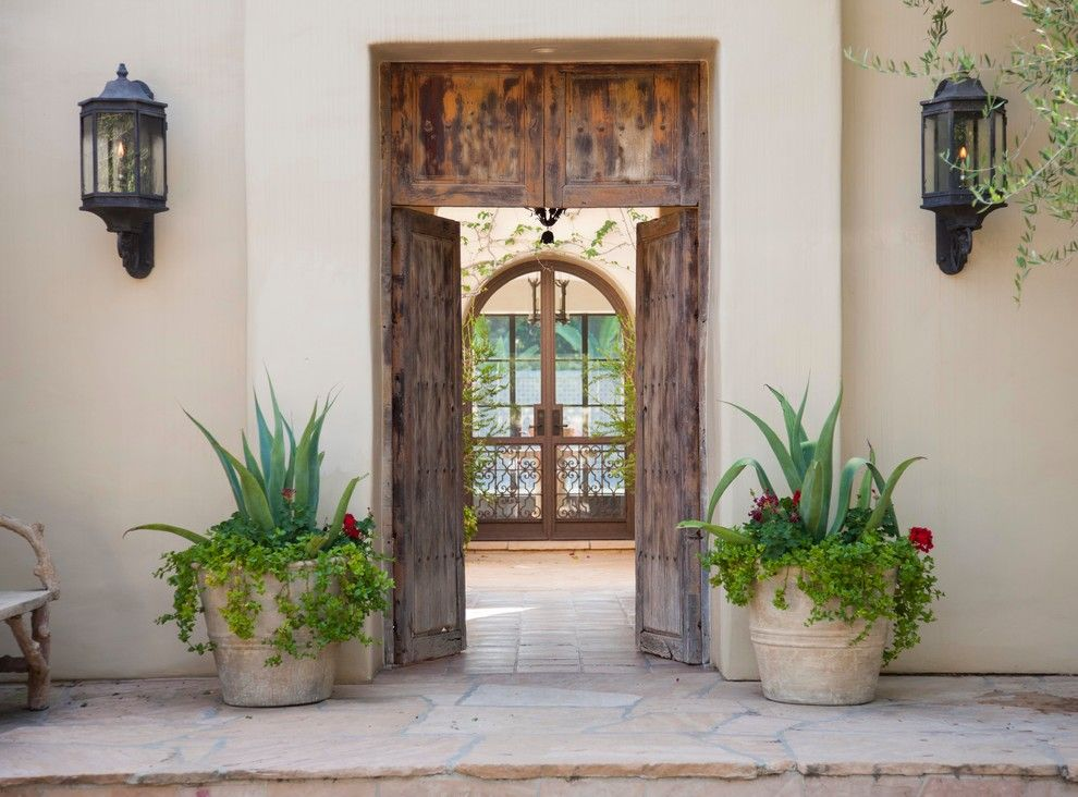 Homewise Santa Fe for a Mediterranean Entry with a Stone Steps and Rancho Santa Fe by Butterbrodt Design Inc.