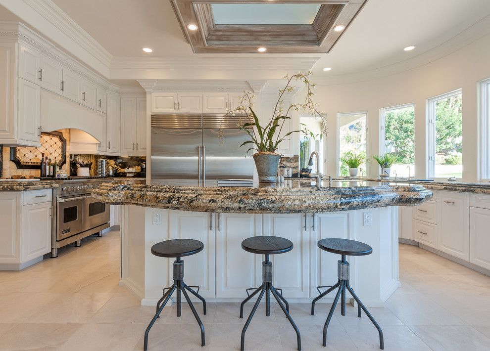 Homewise Santa Fe for a Traditional Kitchen with a White Cabinets and Interior Design Rancho Santa Fe, California by Nader Essa  Photography
