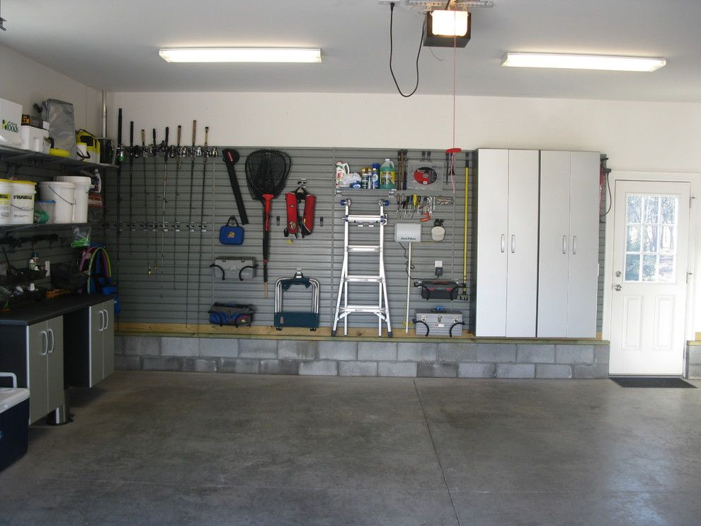 Hooks Chicken and Fish for a Contemporary Garage with a Storage Hook and Flow Wall Storage Solutions by Flow Wall System