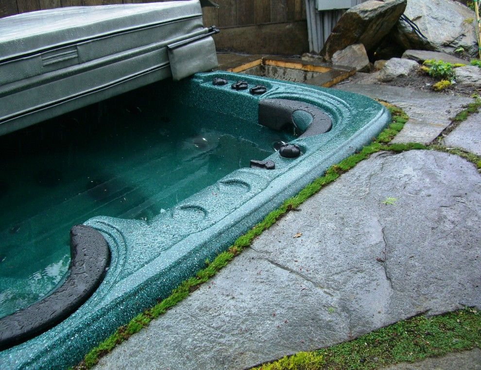 Hot Springs Spa Nc for a Asian Landscape with a Flagstone and Shell Beach Woodland Stream by Erik Jones Landscaping